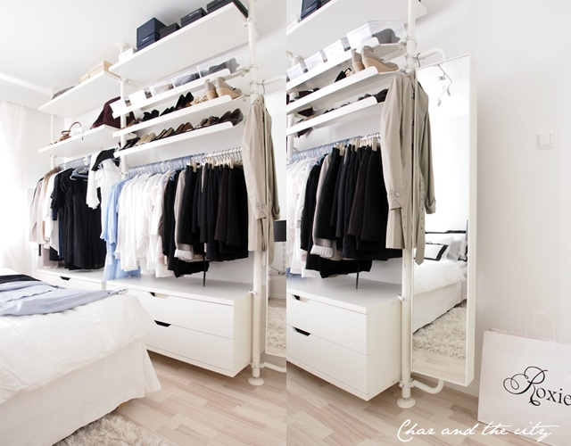 stolmen open closet wardrobe pinterest clothes storage and clothes storage. Black Bedroom Furniture Sets. Home Design Ideas