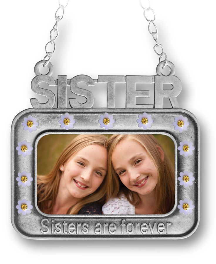 Sisters Ornament - Ornaments for Sisters - Picture Frame Ornaments