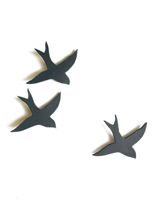 Ceramic wall sculpture swallows We three by PrinceDesignUK on Etsy