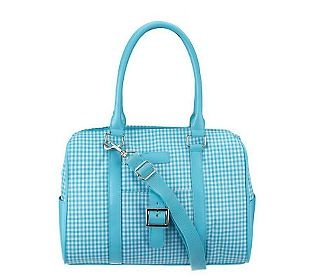 Sachi LunchinLadies Insulated Gingham Print Lunch Tote