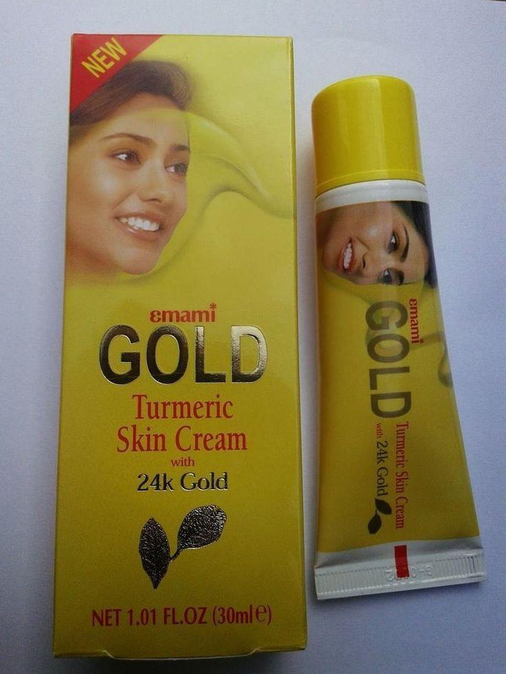 Emami GOLD Turmeric Skin Lightening Cream 24k Gold 30ml Natural Herb Extracts #Emami