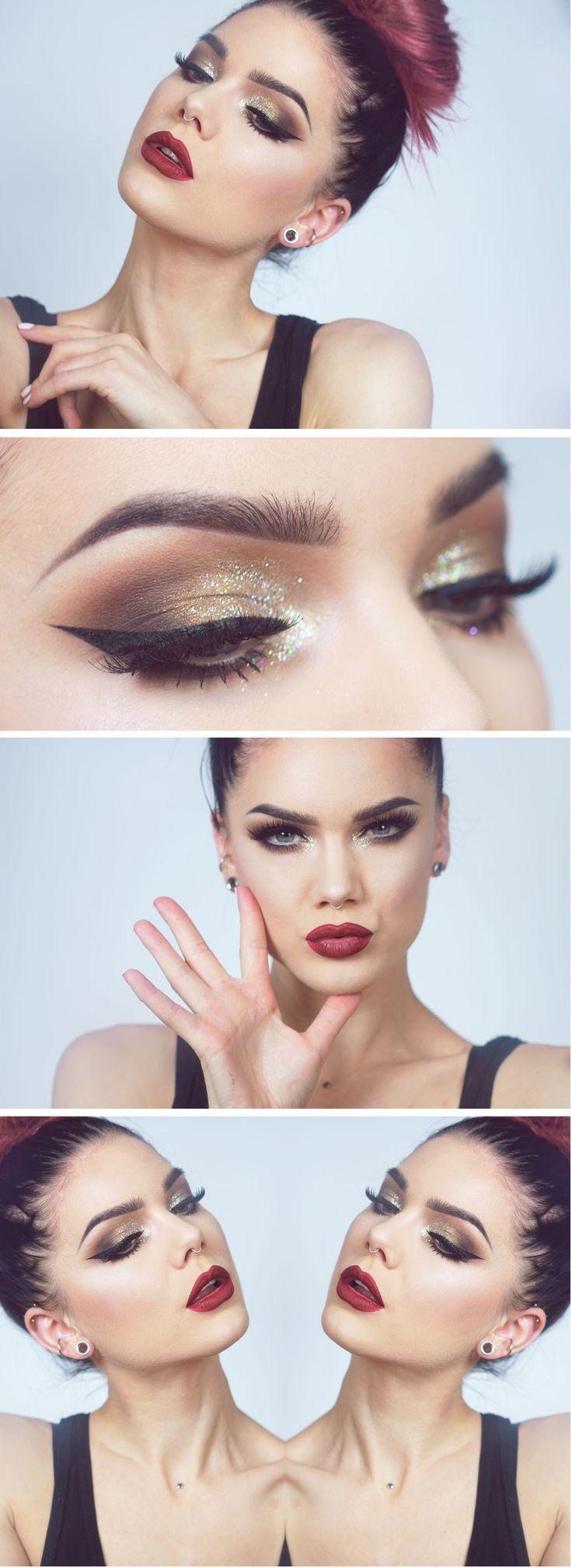 Makeup Artist ^^ | https://pinterest.com/makeupartist4ever/  Champagne wishes ... videotutorial check here: http://lindahallberg.se/2016/05/24/videotutorial-full-face-glam/