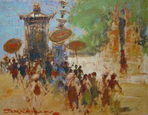 Adolfs, Gerard Pieter - Processie op Bali