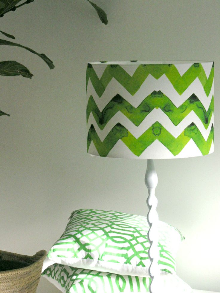 Emerald Chevron Fabric by Vivian Ducas of CestLaViv, Canada