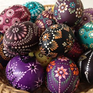 Lithuanian Easter decorated eggs