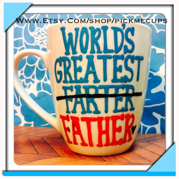 World's greatest father mug- Pick Your Dad's Favorite Colors- Favorite NFL,MLB colors Greatest dad-Funny Father's Day mug on Etsy, $23.00