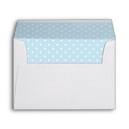 Cute Cat Blue Butterfly Dot Return Address Printed Envelope - baby shower ideas party babies newborn gifts