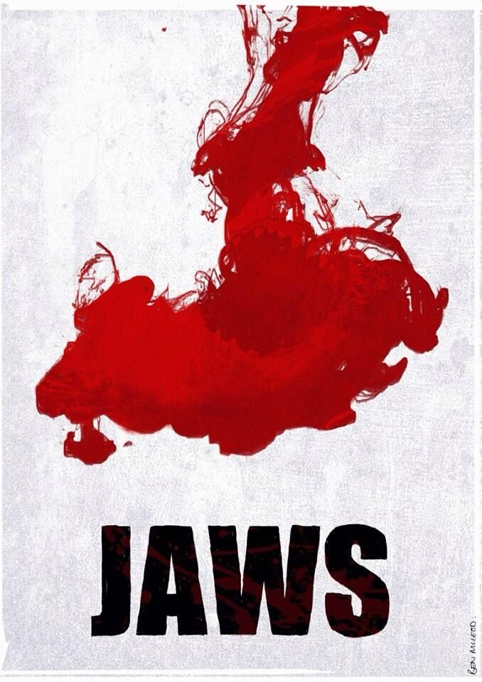 Jaws | Minimalist Movie Poster by Ben McLeod