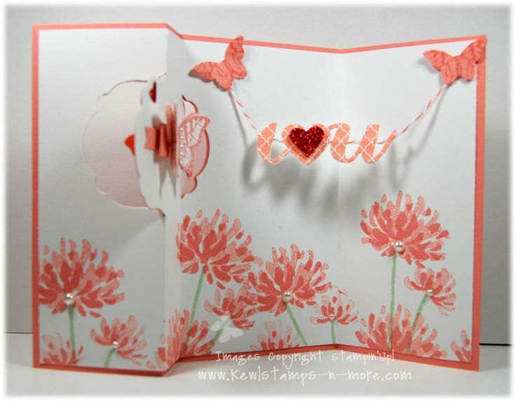 Big Shot Stampin'Up! Thinlits flip card project... with lots of layers.