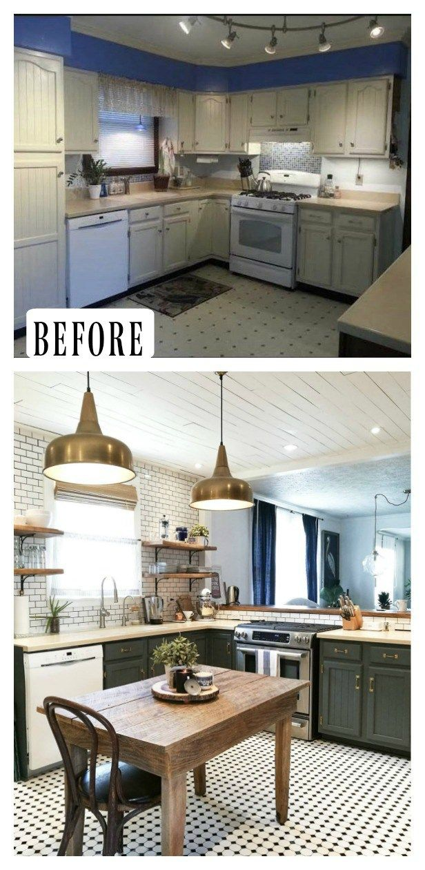 27 Inspiring Kitchen Makeovers Before And After Paint Kitchen