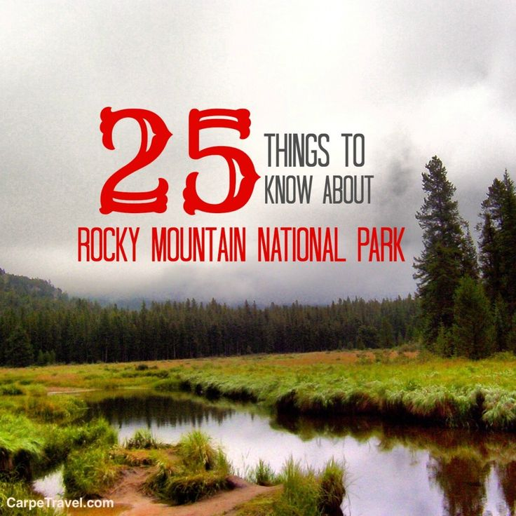 Click through to read 25 fun things to know about Rocky Mountain National Park. #travel #colorado #nature