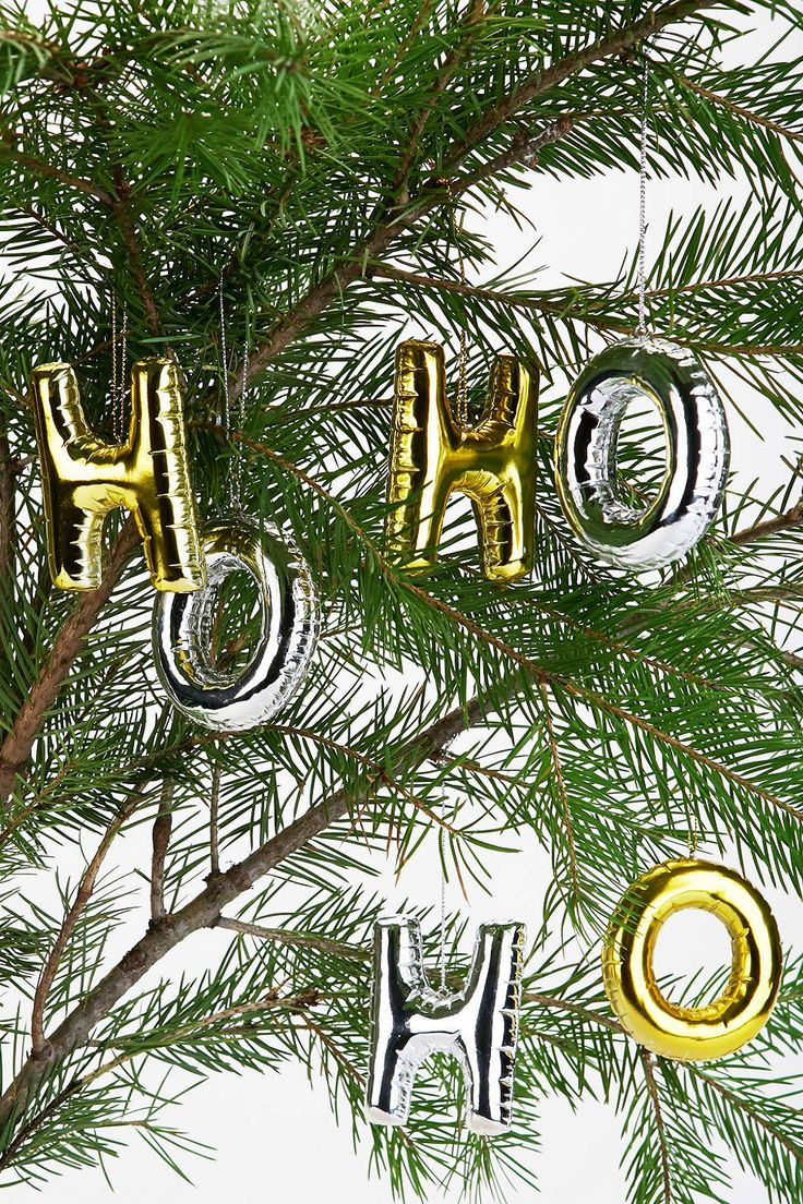 Balloon letter ornaments - these are SO cool!