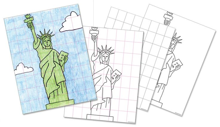 Art Projects for Kids: FREE Statue of Liberty Drawing Guide