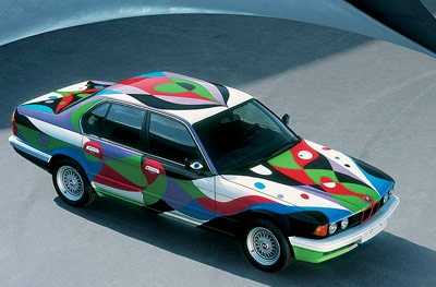 1990 BMW 730i by Cesar Manrique - top front view