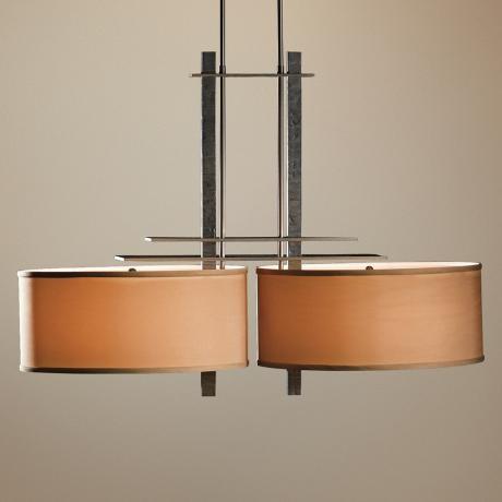 hubbardton forge ondrian double burnished steel chandelier - Hubbardton Forge