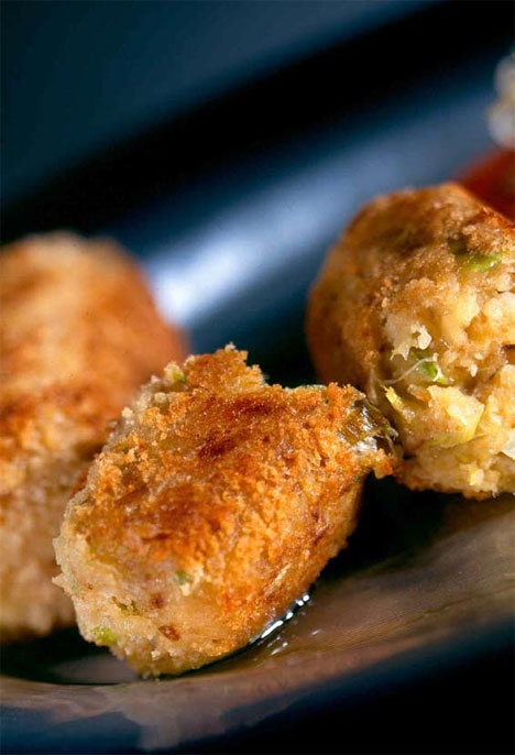 Glamorgan Sausages -   A traditional Welsh vegetarian sausage made with Caerphilly cheese, leek, mustard and rolled in breadcrumbs.  Glamorgan sausages are featured on many restaurant menus all around Wales.