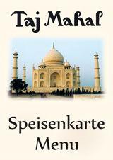 Taj Mahal - Speisenkarte