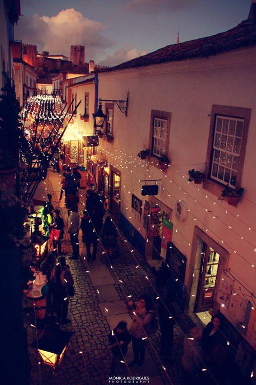 Alfama nights, Lisbon during June Festivities, Portugal.