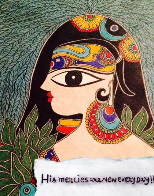 Bharti's new painting!! #madhubani, #walldecor, #bhartidayal, #artwork, pepupstreet.com, #india