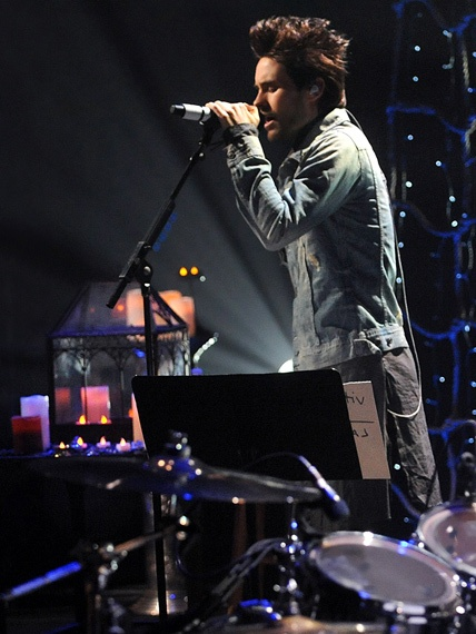 Thirty Seconds To Mars perform during 'Unplugged.'