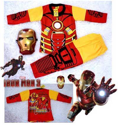 Setelan Anak Iron Man Pahlawan super idola anak anak Kostum dengan topeng Iron Man yang digemari buah hati bunda.Untuk informasi dan pemesanan silahkan hubungi CS 081288344514 ( SMS/WA ) atau Pin BB 24E4B6DA