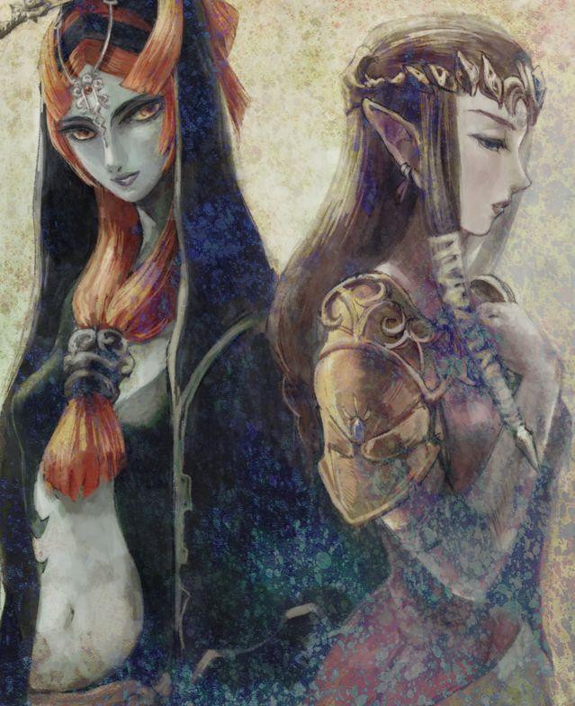 The Legend of Zelda: Twilight Princess, Midna and Princess Zelda.