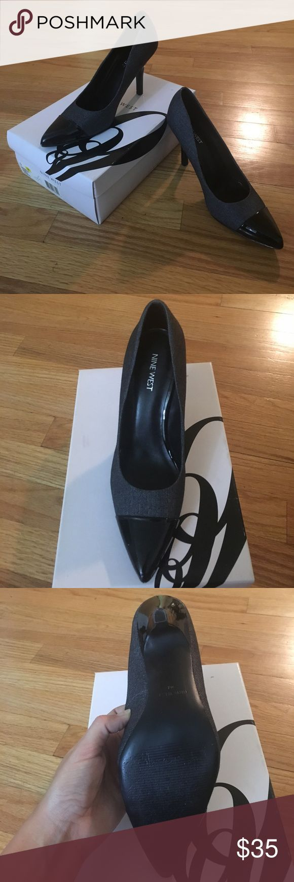 Nine West Black Heels Pre-BLACK FRIDAY SALE 🎉 Nine West black heel! Patent leather toe. Size 9. Little too small for me. In perfect condition. Worn once or twice. Perfect for a date or work. Classic black heel. Nine West Shoes Heels