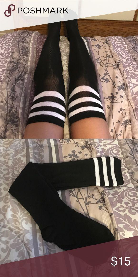 OTK black thigh high tube socks ❗️Price firm unless bundled ❗️ ✈️ ships same or next day✈️ boutique Accessories Hosiery & Socks