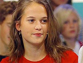 """academy award winner alicia vikander guest appearance on swedish game show """"bubbel"""" (2004)"""