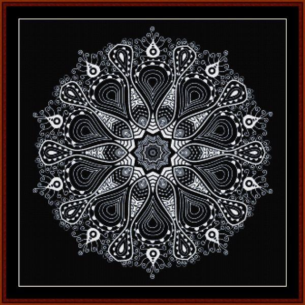 Cross Stitch Collectibles - Detail1 - FR-529 - Fractal 529 - Abstract - All cross stitch patterns - Fractals - Graphic Art - Black and White - Cross Stitch Collectibles