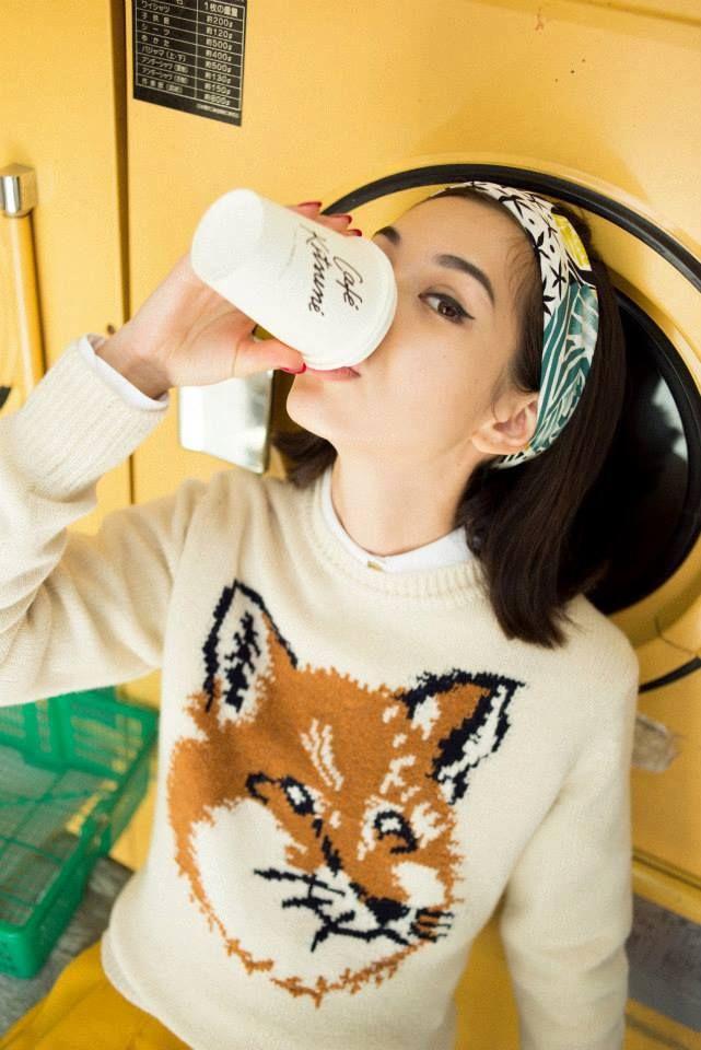 Kiko Mizuhara #foxsweater #style