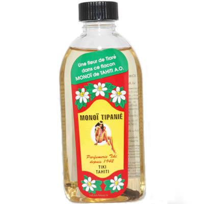 Monoi Tiki Tipanie (Frangipani) - Tahitian coconut oil with the glorious scent of tropical frangipani.  Just heavenly!