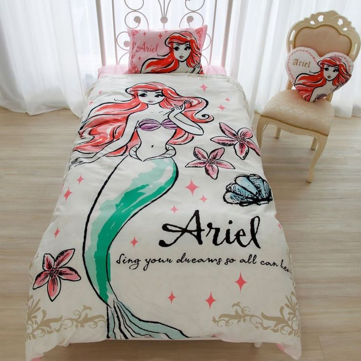 Ariel Bedding set Cover and Pillow case Disny F/S ❥Kawaii from JAPAN