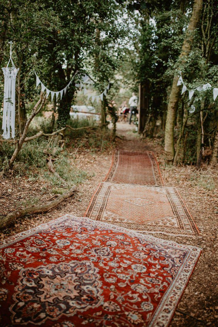 Macramé & Dreamcatcher Woodland Wedding at Upthorpe Wood