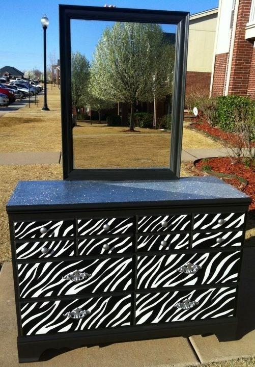 Zebra dresser!! Perfect for Aubrey's room!!