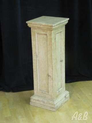 Stone finish pillar - 33'' tall (painted white)