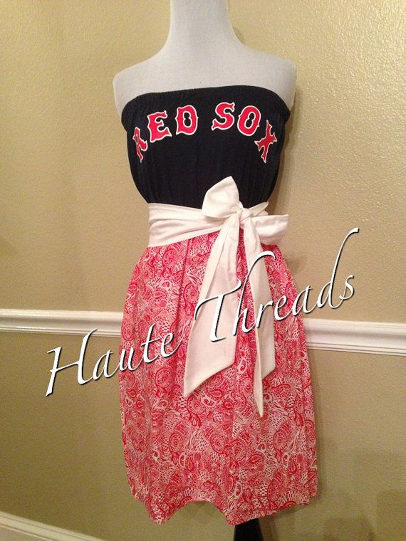 MLB Boston Red Sox Baseball Gameday Game by hautethreadsboutique