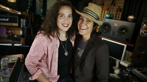 #nomorolemodel Lisa Coleman (1960-) is an American keyboard player and composer, shown here (on left) with her ex-girlfriend of 20 years and still her composing partner Wendy Melvoin. She is best known along with Wendy as the 'girls in the band' from Prince's backing band 'The Revolution' and for their solo career afterwards as 'Wendy & Lisa'. Now a Emmy award winning soundtrack composing team, Lisa does not have children but is very close to Wendy's daughter. #LGBT