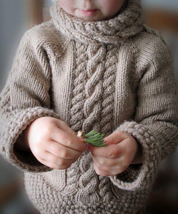 Baby Knitting Patterns Muster PDF-Pullover stricken Muster Kabel von KnotEnufKnitt...