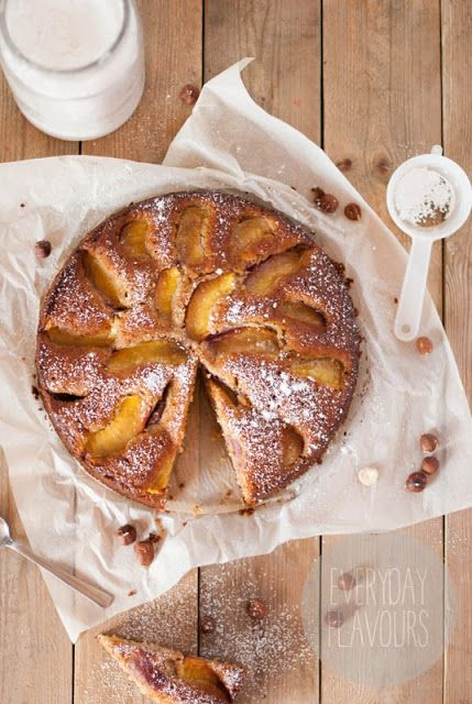 Honey, Nectarine and Nut Cake