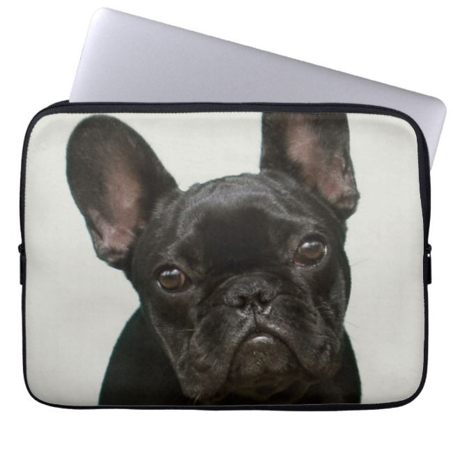 Cutest French Bulldog Puppy Laptop Sleeve Zazzle Com