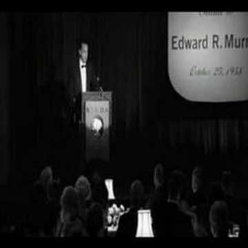 From Good Night, and Good Luck; I believe what Edward R. Murrow said here (which actually happened) carries weight today more so than ever.