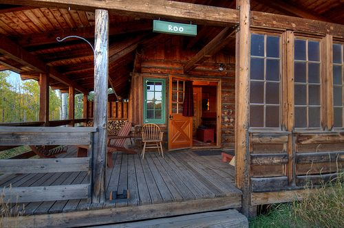 Rustic Cabin porch - simple beauty!