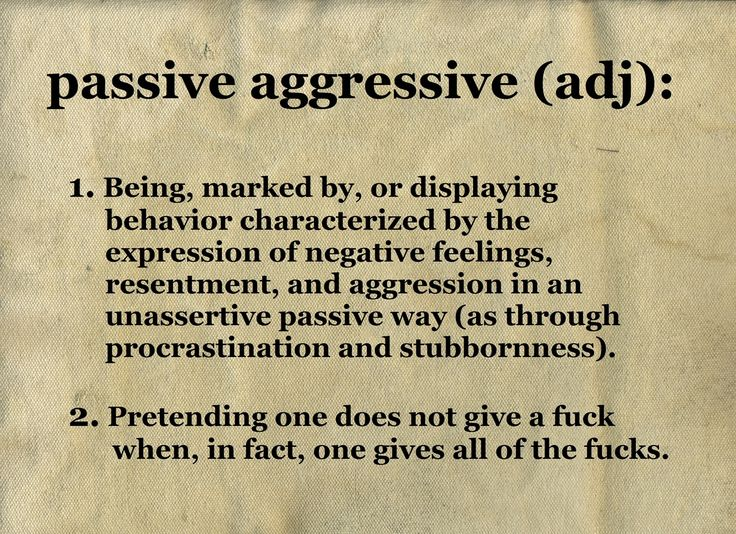 Some Psych humor for you all today... Passive agression truth; this made me chuckle :-)
