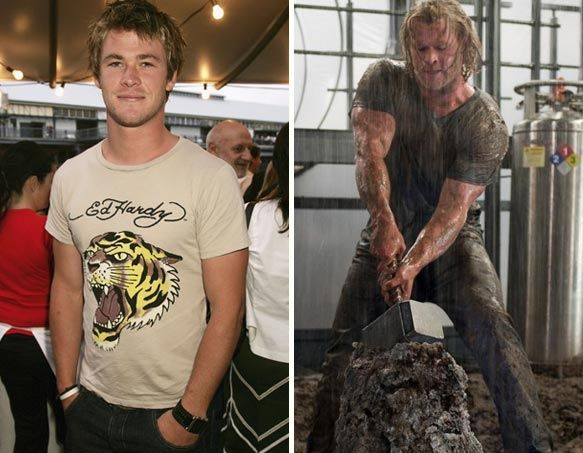 "Chris Hemsworth gained 20lbs of muscle to play ""Thor."" in ..."