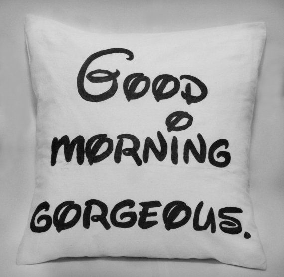 Made to order pillow cover Good morning by FennekArtDesign