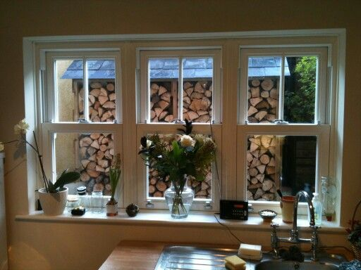 New windows and log store, Horndean.