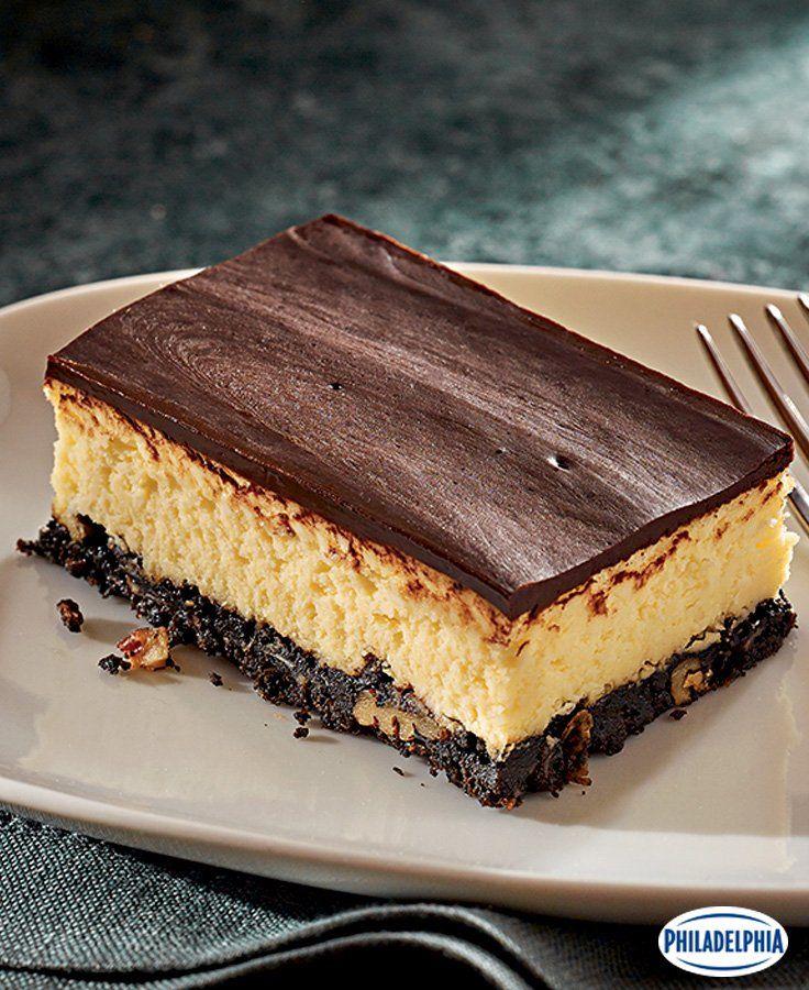 Layered Nanaimo Bar Cheesecake #recipe