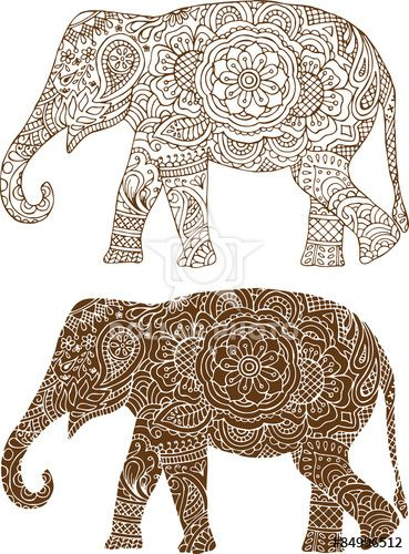 https://www.dollarphotoclub.com/stock-photo/silhouette of a elephant in the Indian mehendi patterns/84996512 Dollar Photo Club millions of stock images for $1 each