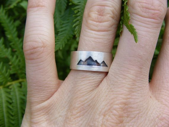 Size 6.5 Ready to Ship Sterling Silver Mountain by ScenicRouteCo